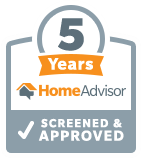 Home Advisor 5 Years Screened and Approved | Elemental Design Corp